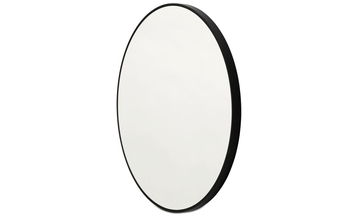 Mirrors - Ring mirror - Black - Glass