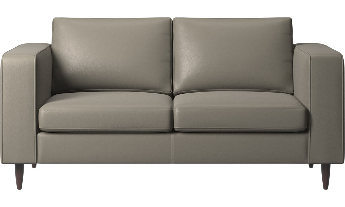 2-sitzer Sofas - Indivi Sofa - Grau - Leder