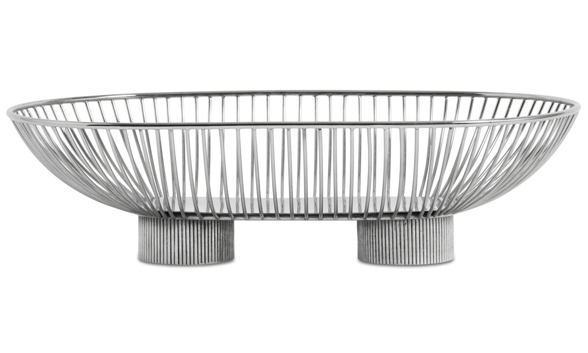 Decoration - Line dish - Grey - Metal