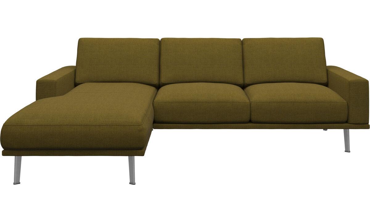 New designs - Carlton divano con penisola relax - Giallo - Tessuto