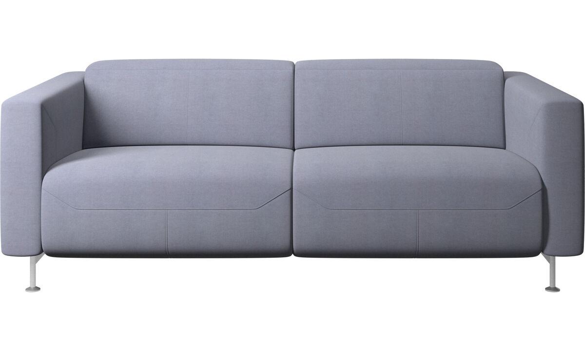 Sofás de 2 plazas - Sofá reclinable Parma - En azul - Tela