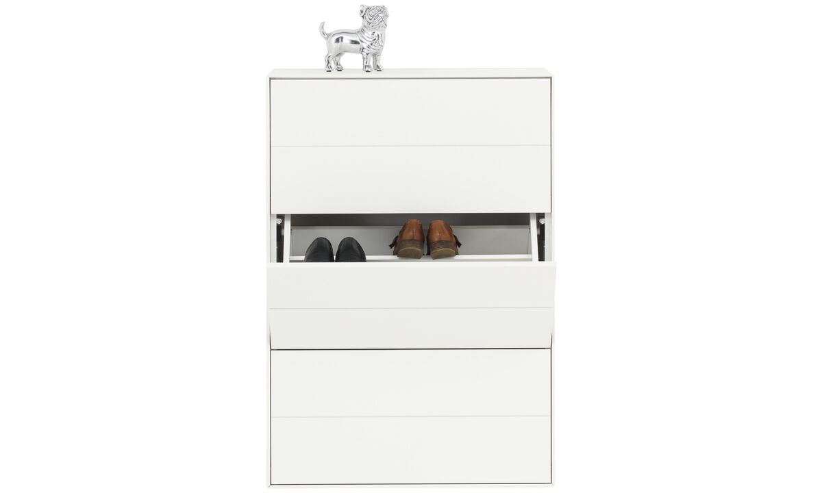 Hallway furniture - Fermo shoe cabinet - White - Lacquered