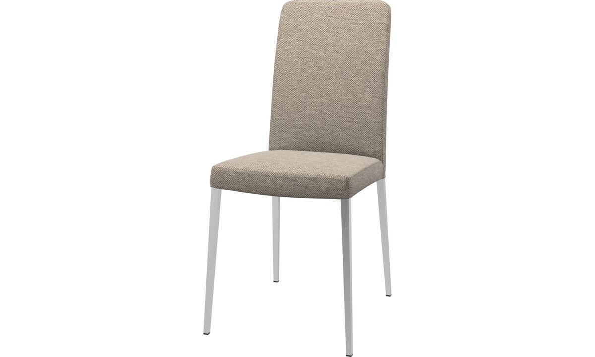 Cadeiras de jantar - Cadeira Nico - Bege - Tecido