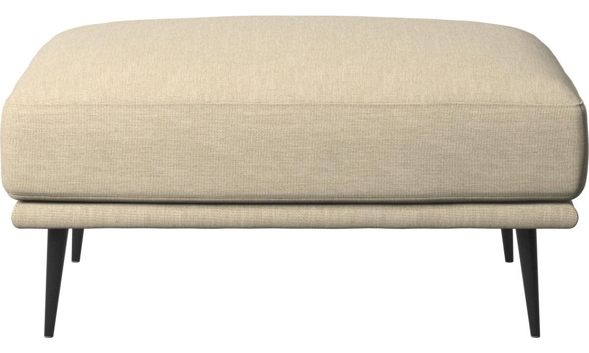 软垫凳 - Carlton 脚凳 - 褐色 - 布艺