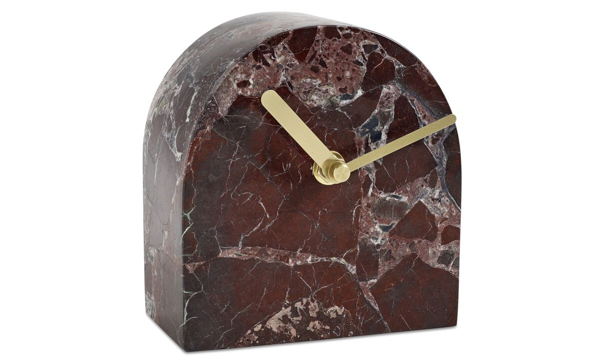New designs - Story clock - Red - Stone