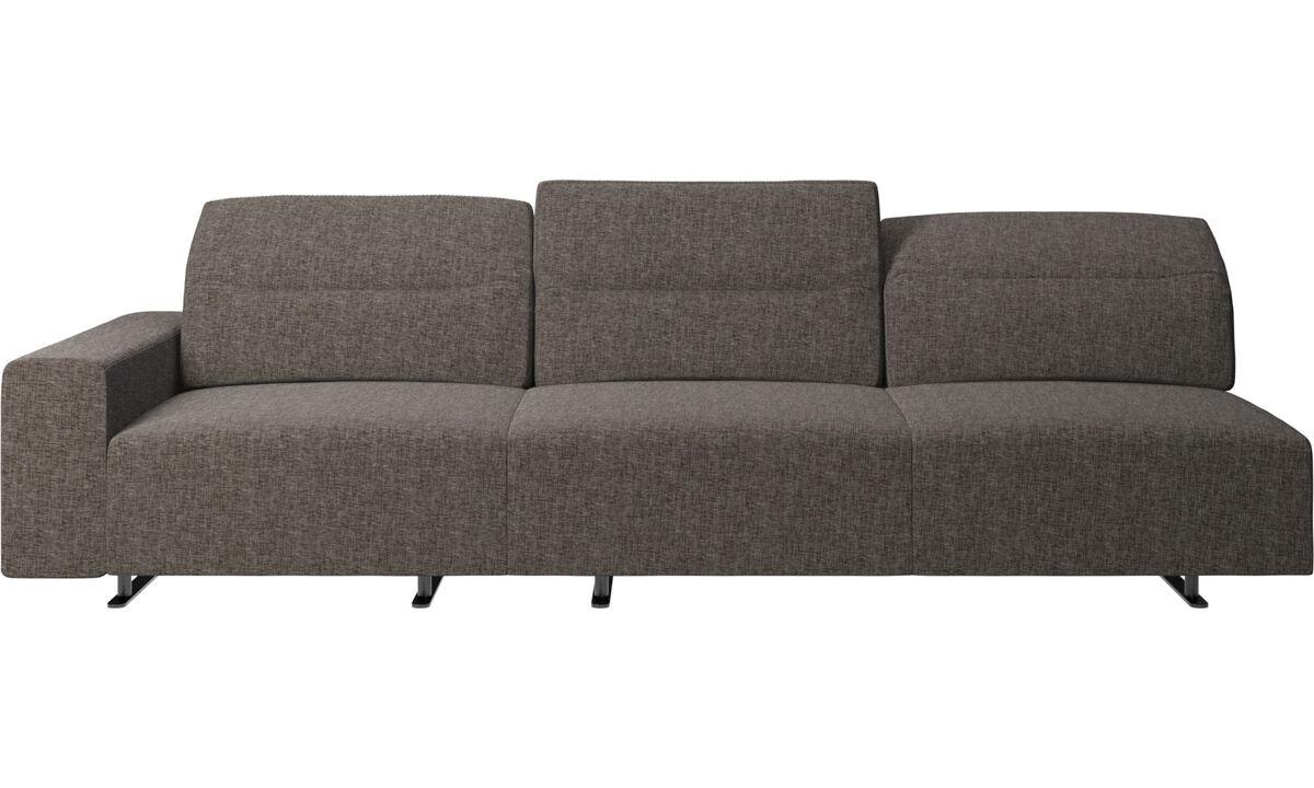 3 seater sofas - Hampton sofa with adjustable back - Brown - Fabric