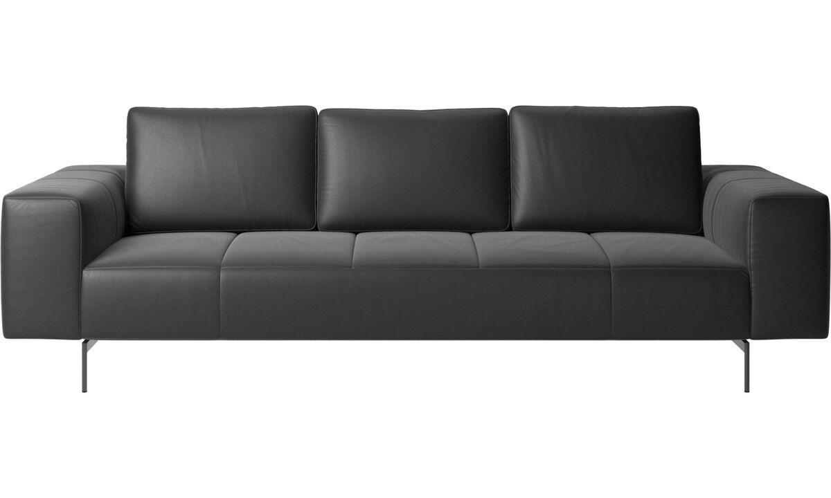 3 seater sofas - Amsterdam sofa - Black - Leather