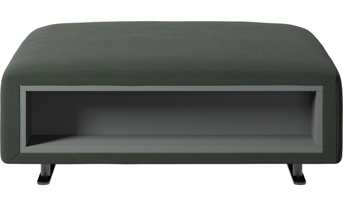 Footstools - Hampton footstool with storage left and right sides - Green - Fabric