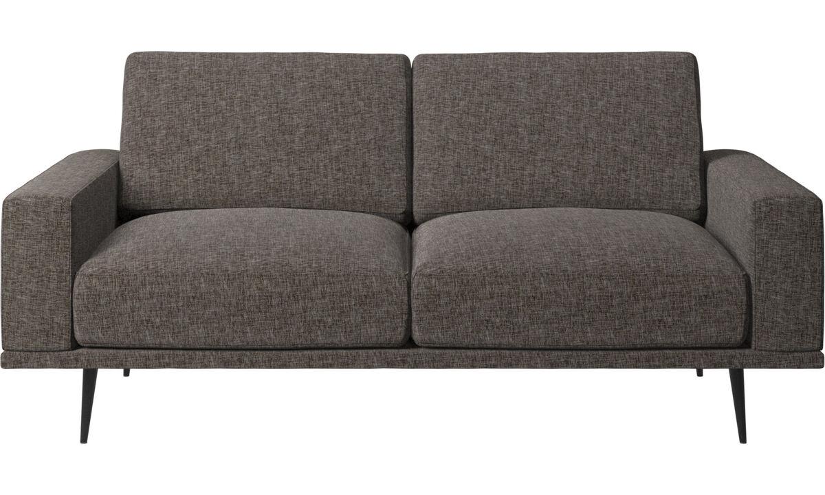2 seater sofas - Carlton sofa - Brown - Fabric