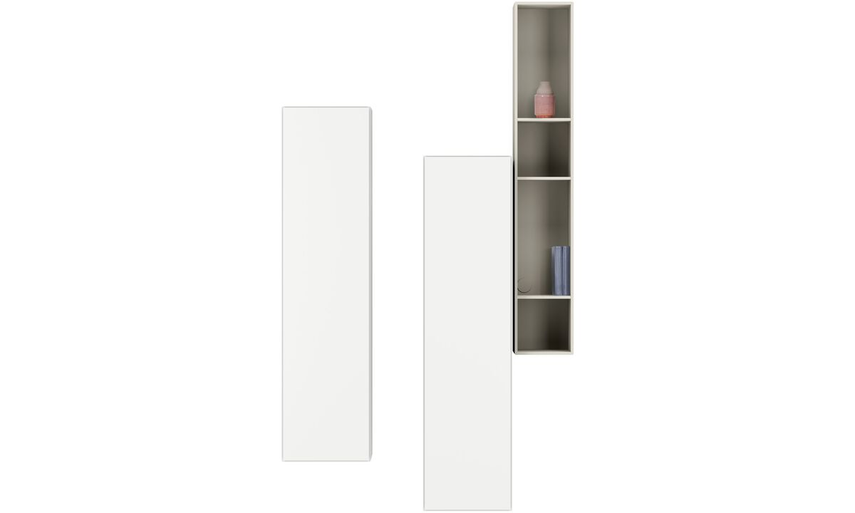Wall systems - Lugano wall mounted cabinets - Gray - Lacquered