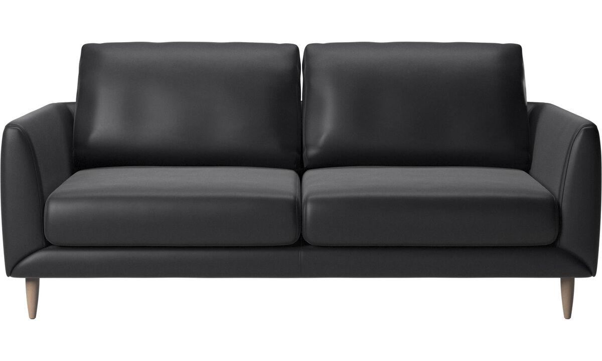 2.5 seater sofas - Fargo sofa - Black - Leather