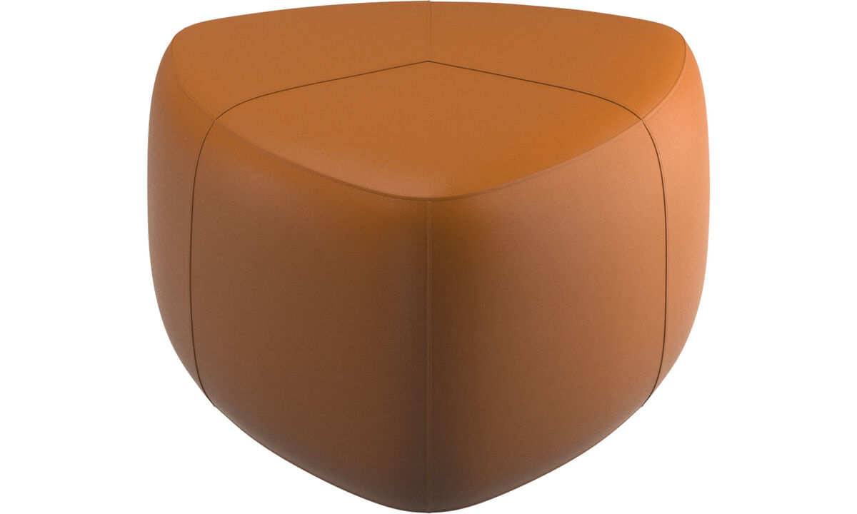 Footstools - Bermuda footstool - Brown - Leather