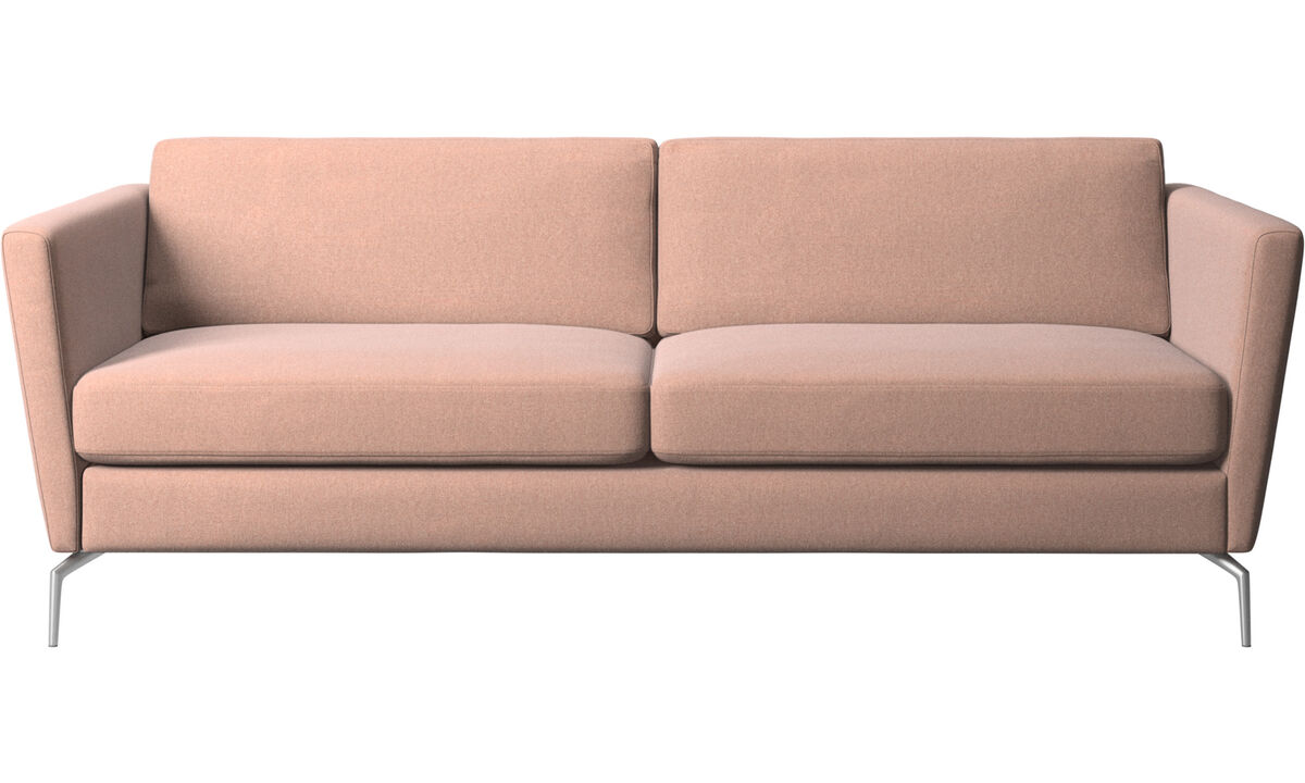 2.5 seater sofas - Osaka sofa, regular seat - Red - Fabric