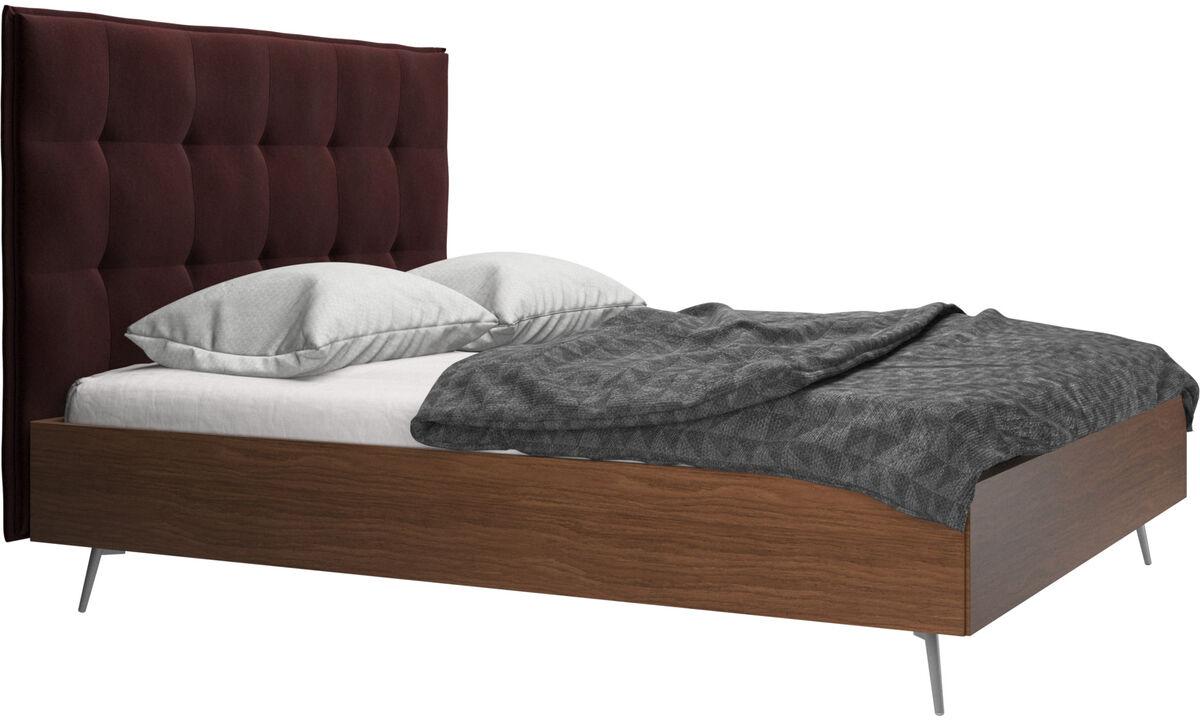 Nuevas camas - Cama Lugano, no incluye colchón - Morado - Tela