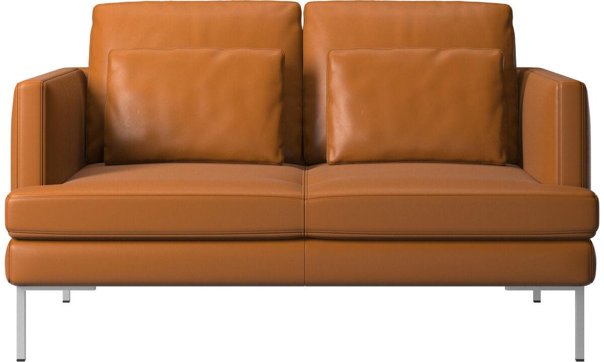 Sofás de 2 plazas - Sofá Istra 2 - En marrón - Piel