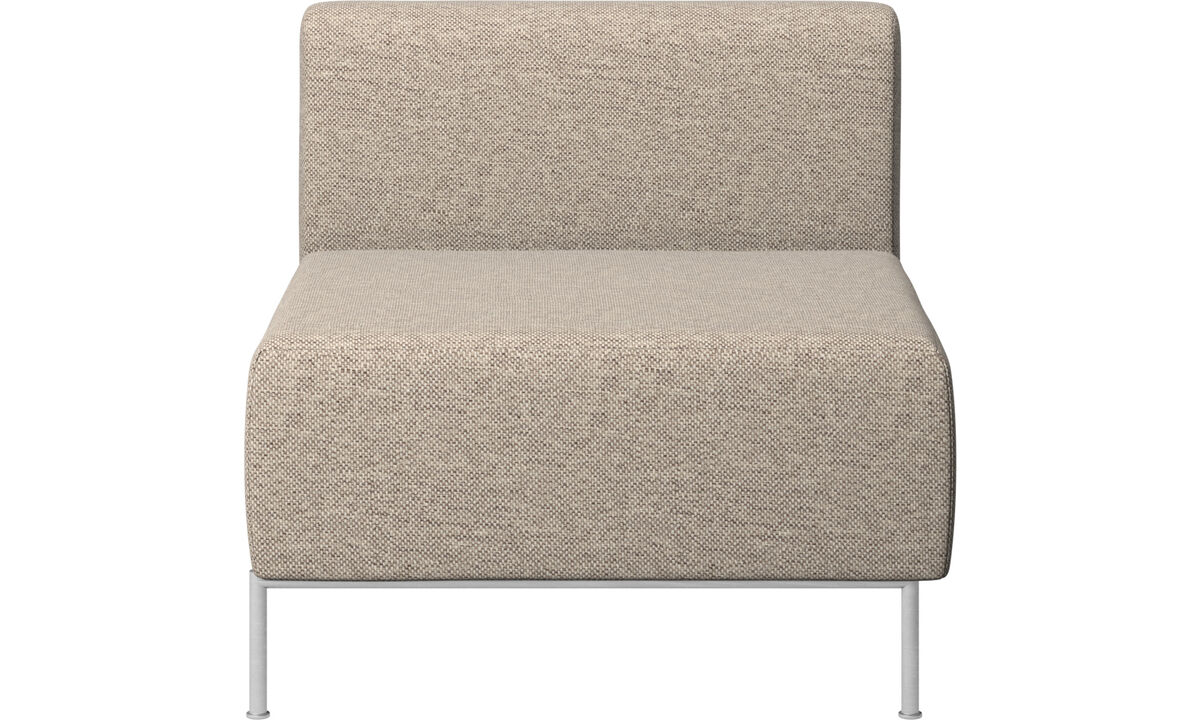 Armchairs - Miami seat with back - Beige - Fabric