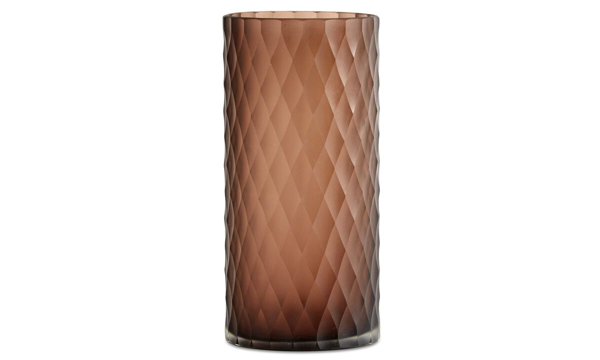 Vases - Diamond vase - Brown - Glass