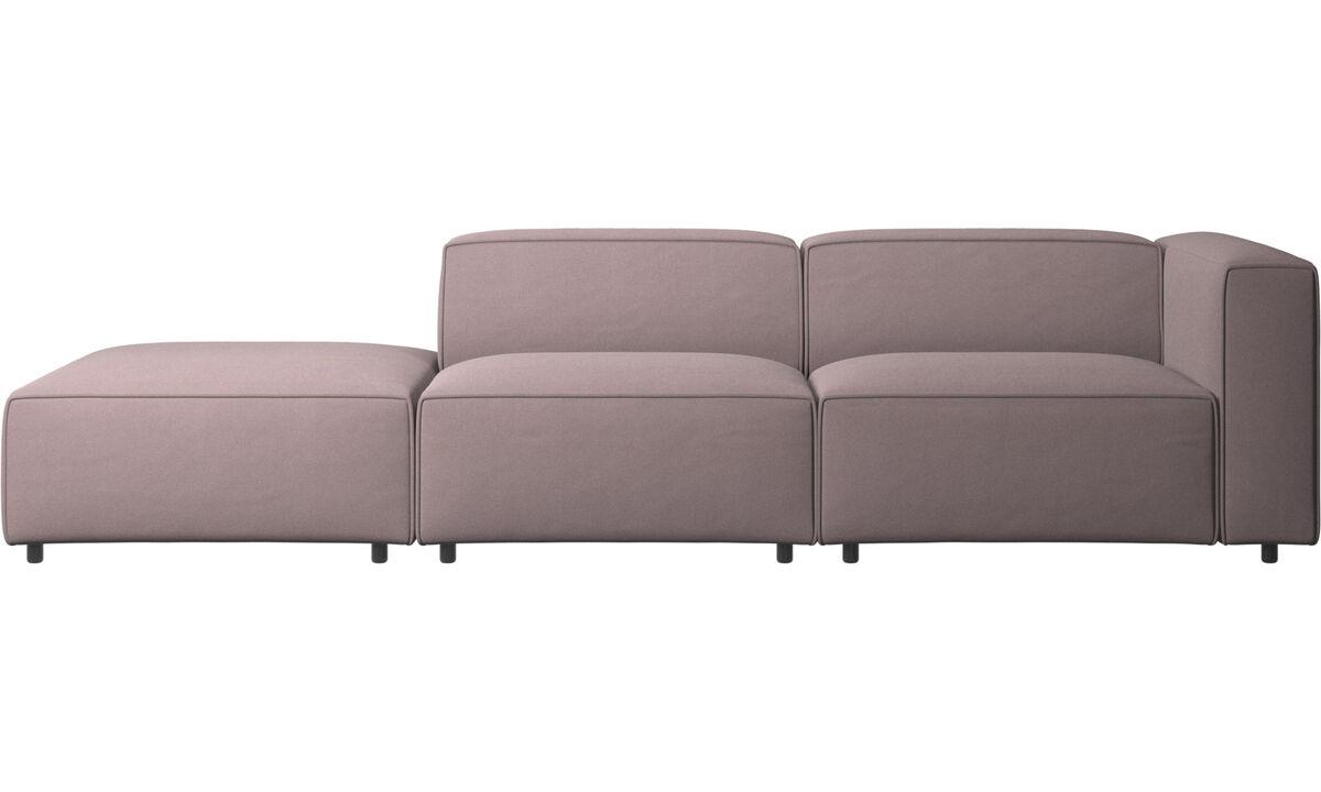 Sofás modulares - sofá Carmo con módulo de descanso - Morado - Tela