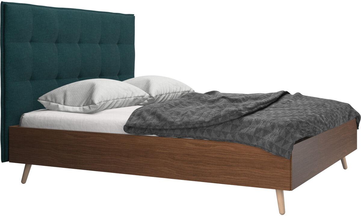 Sängar - Lugano säng, exkl. madrass - Blå - Tyg