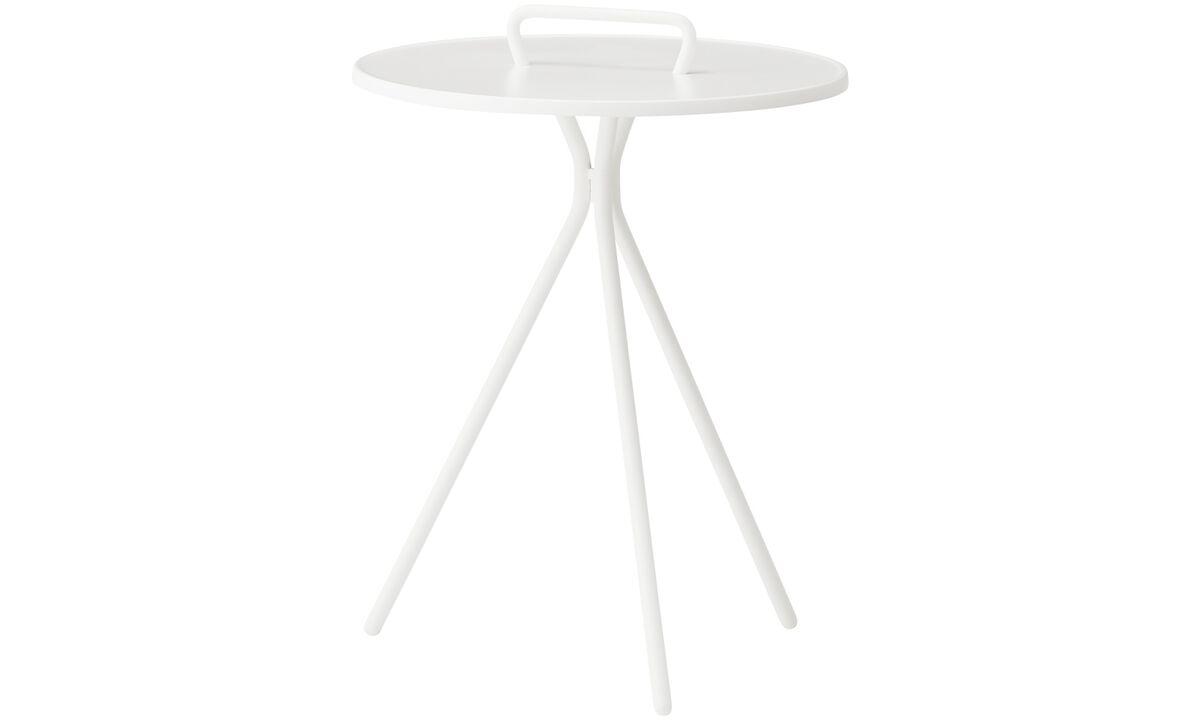 Mesas de centro - Mesa lateral Jersey (para uso interno e externo) - redonda - White - Lacado