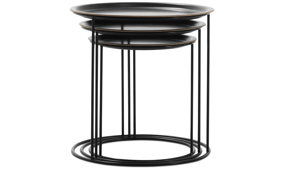 New designs - Cartagena nest of tables - round - Black - Lacquered