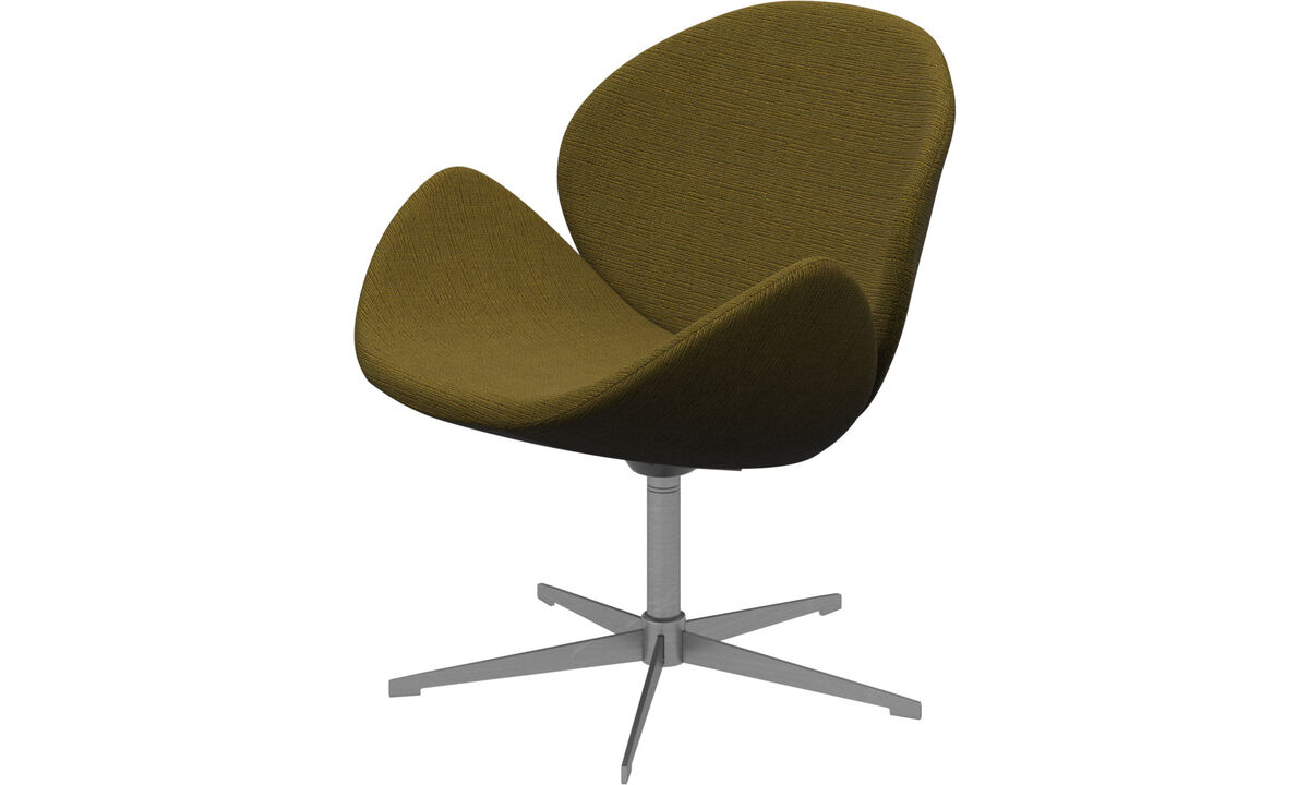 Armchairs - Ogi chair with swivel function - Yellow - Fabric