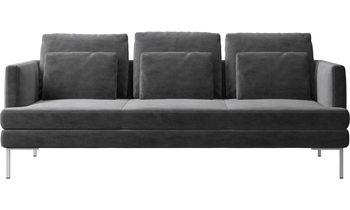Sofás de 3 plazas - sofá Istra 2 - En gris - Tela