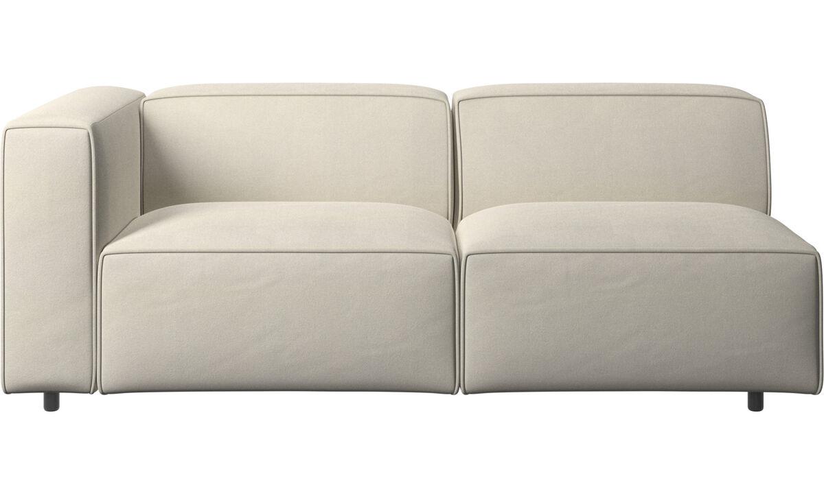 Sofás de 2 plazas y media - sofá Carmo - Blanco - Tela