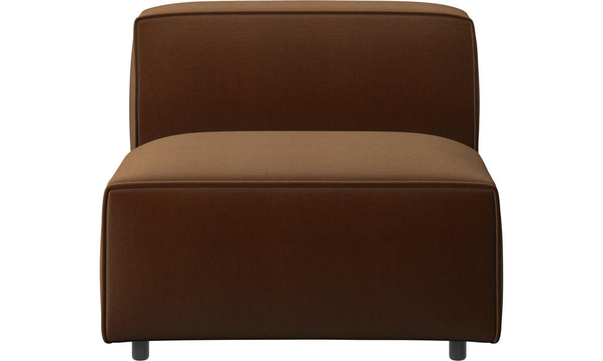 Sillones - silla/módulo básico Carmo - En marrón - Tela