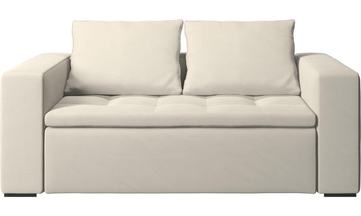 2 seater sofas - Mezzo sofa - White - Fabric