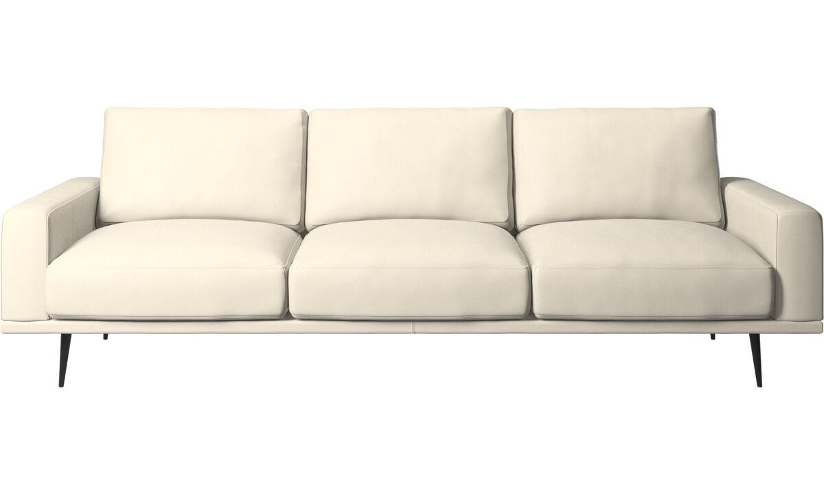 Sofás de 3 plazas - Sofá Carlton - Blanco - Piel