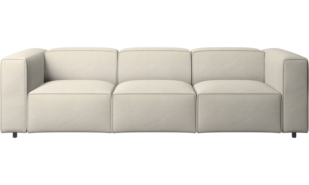 Sofás de 3 plazas - sofá Carmo - Blanco - Tela