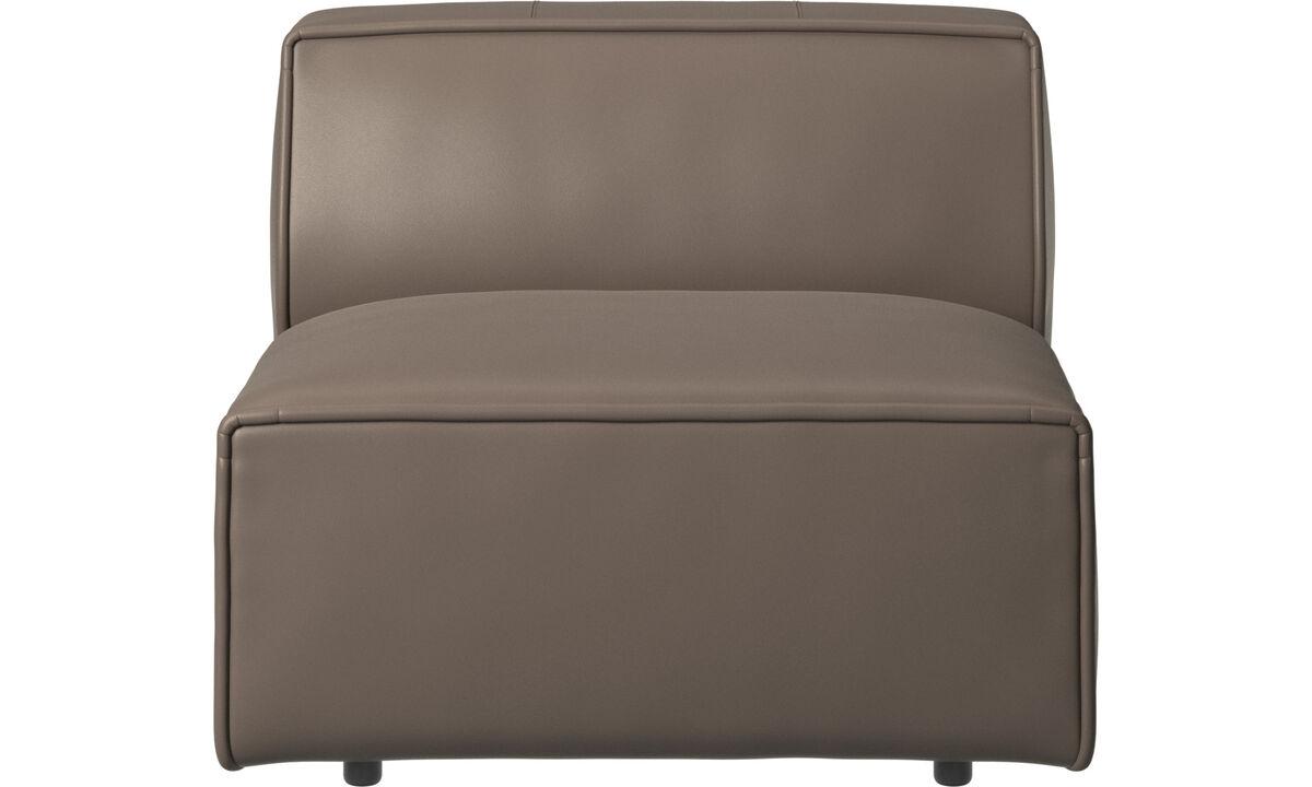 Sofás modulares - Silla/módulo básico Carmo - En gris - Piel