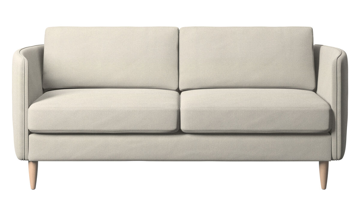 2-sitzer Sofas - Osaka Sofa, klassische Sitzfläche - Weiß - Stoff