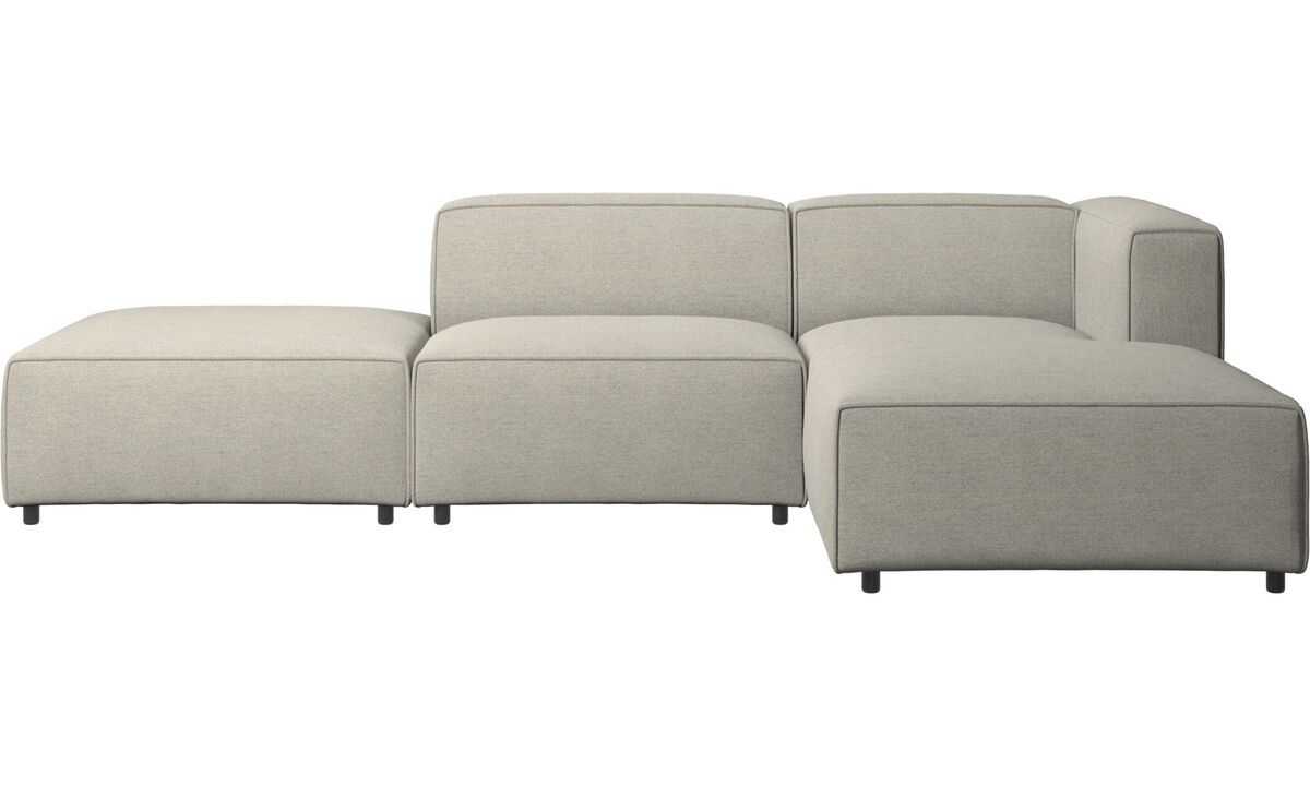 Chaise longue sofas - Carmo sofa with resting unit - Beige - Fabric