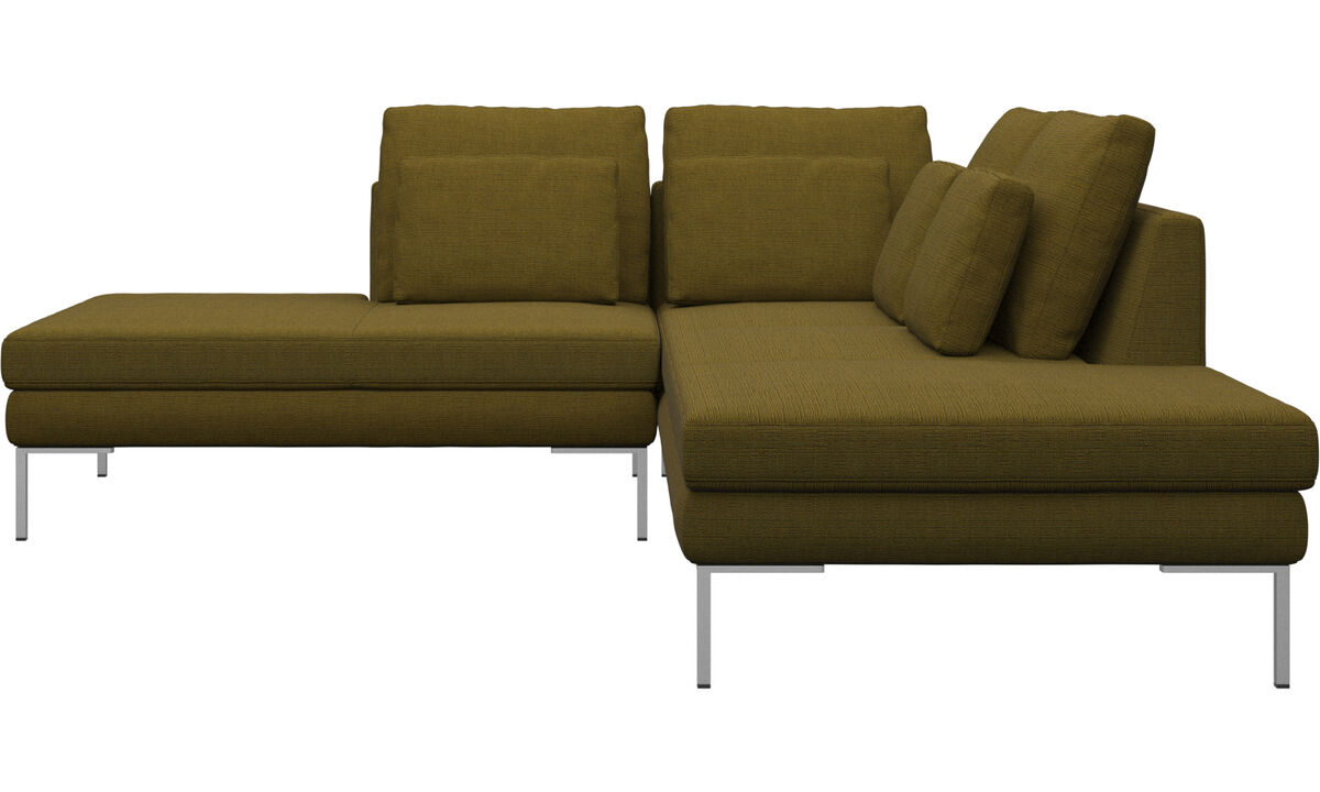 New designs - Istra 2 sofa with lounging unit - Yellow - Fabric