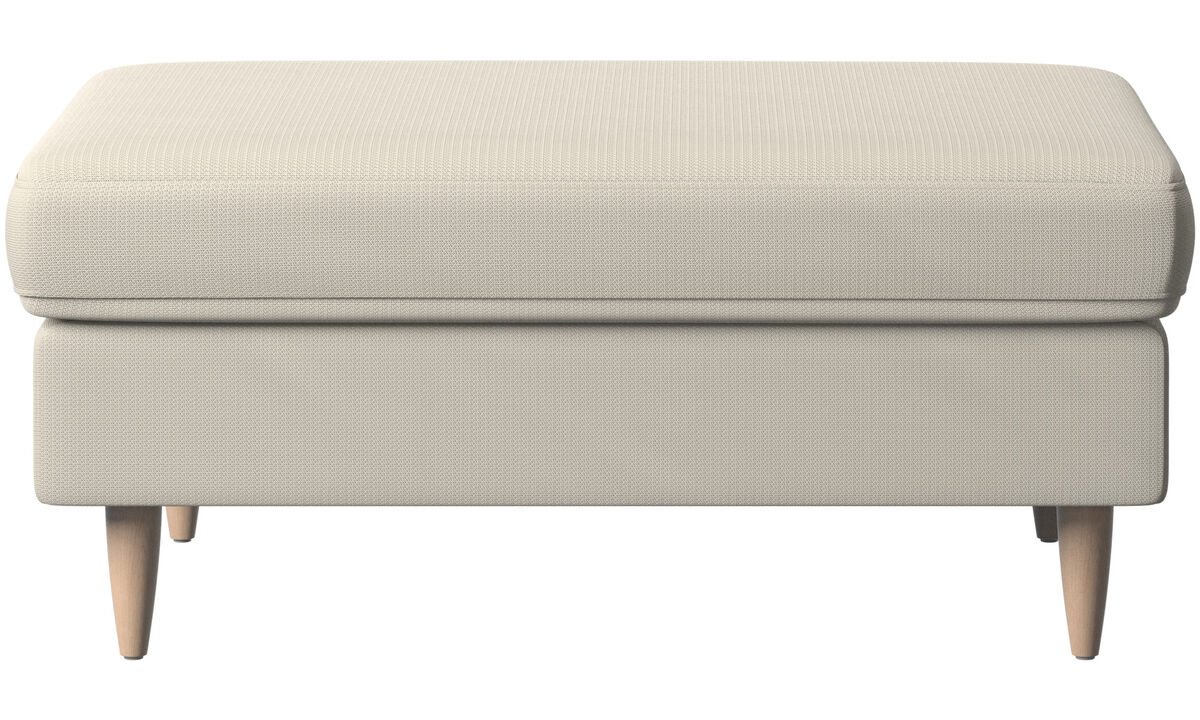 Ottomans - Indivi 2 ottoman - White - Fabric