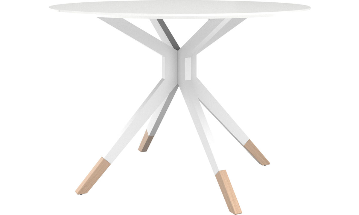 New designs - Billund table - round - White - Lacquered