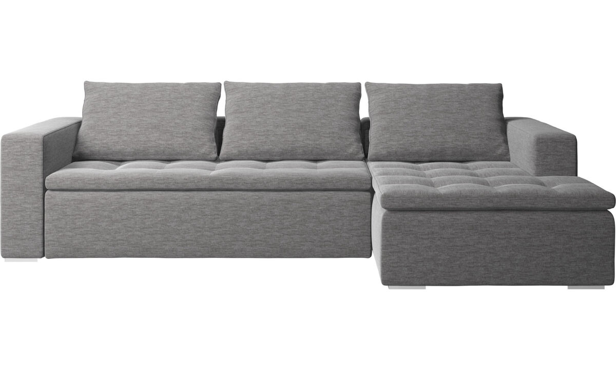Chaise lounge sofas - Mezzo sofa with resting unit - Gray - Fabric