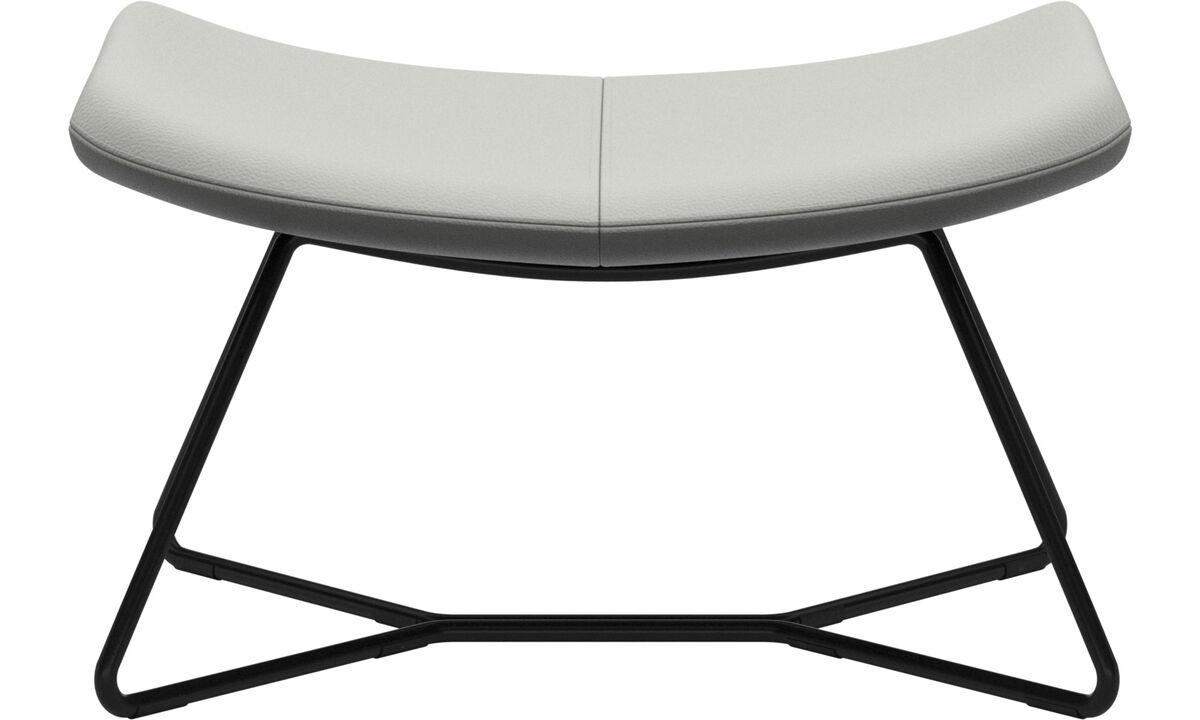 Footstools - Imola footstool - White - Leather