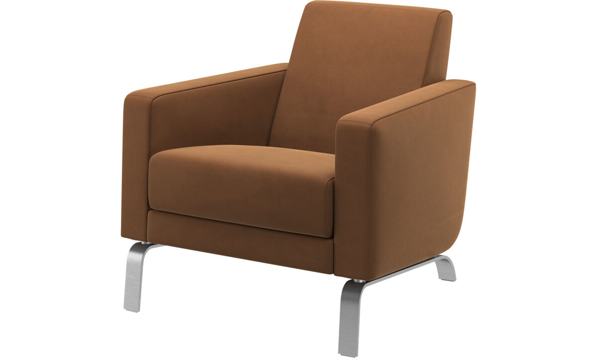 Armchairs - Fly chair - Brown - Leather