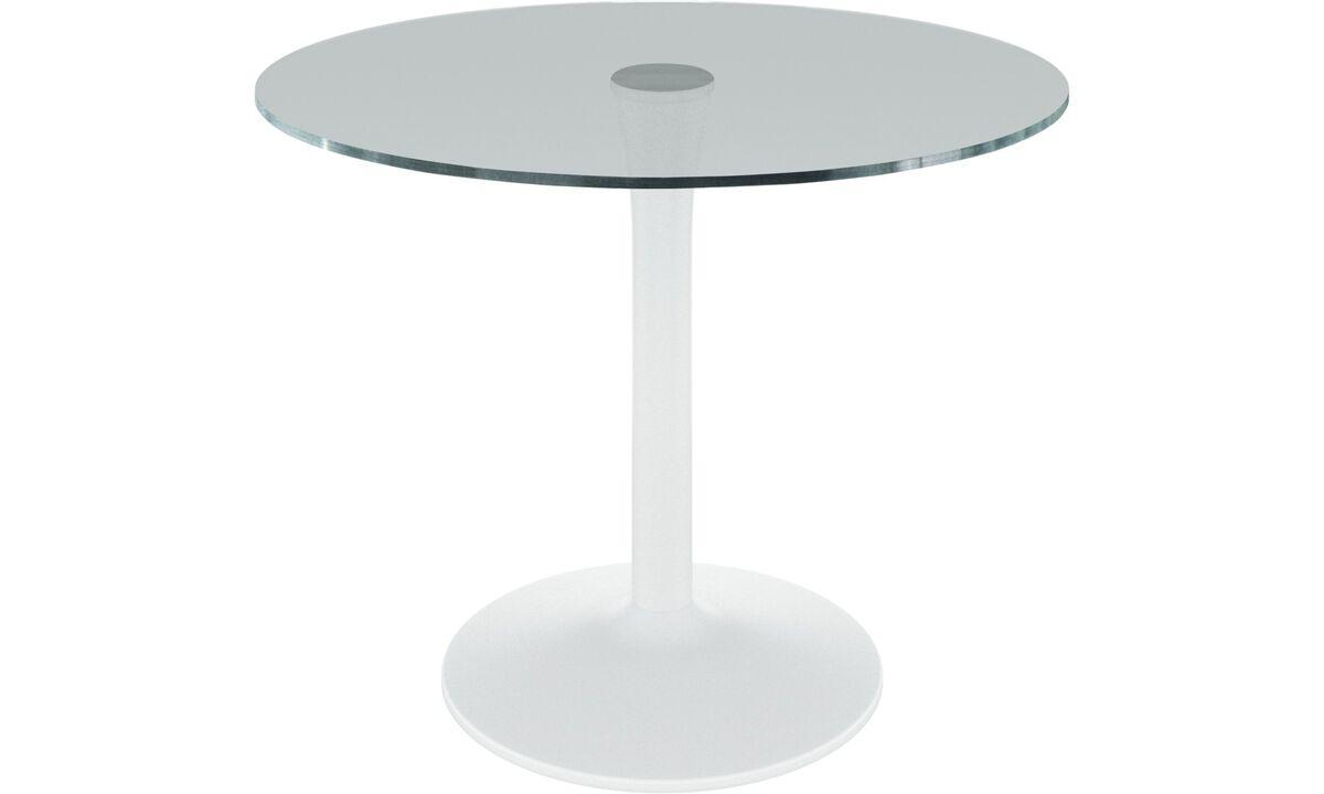 Mesas de jantar - Mesa New York - redonda - Vidro transparente - Vidro