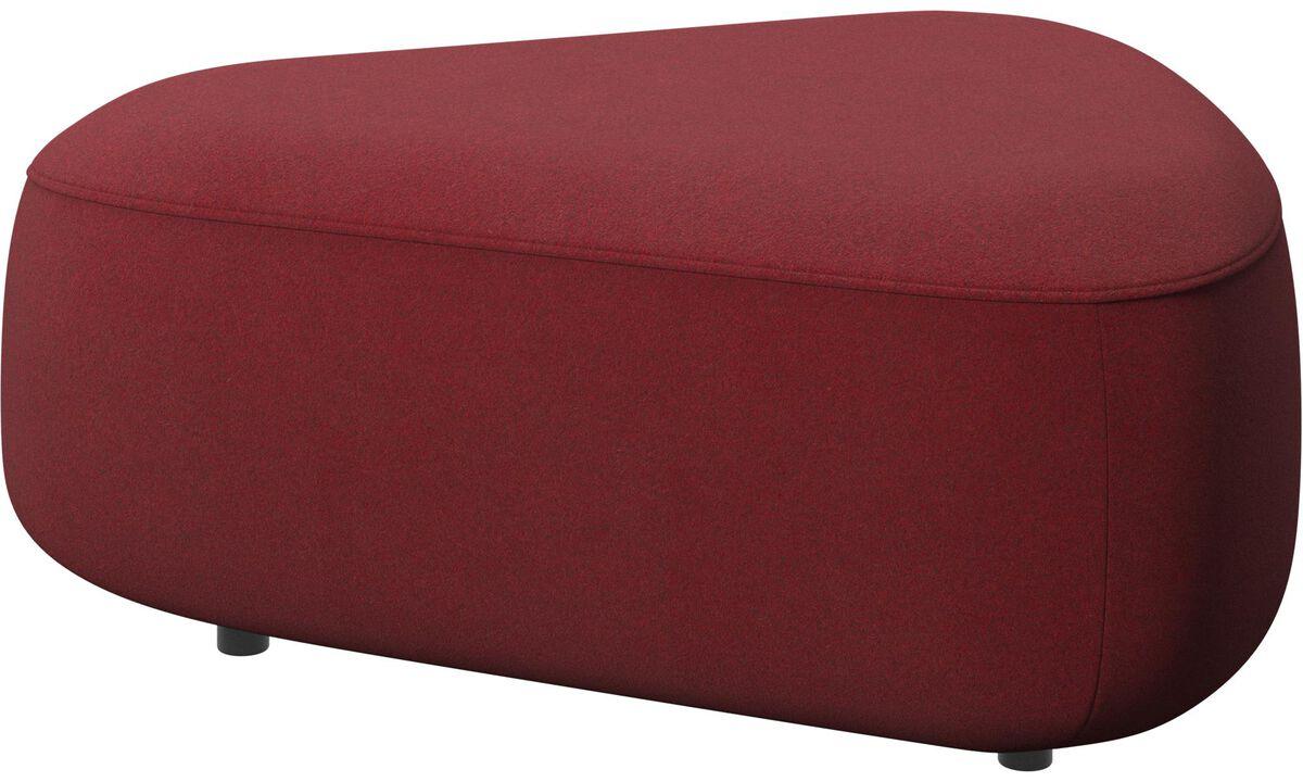 Modulære sofaer - Ottawa triangulær puf - Rød - Stof