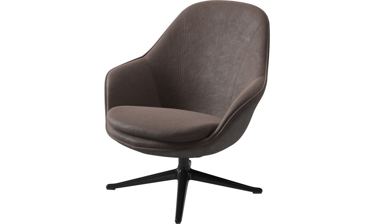Armchairs - Adelaide living chair - Brown - Leather