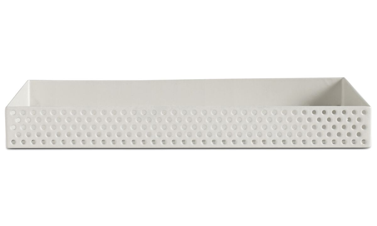 Small storage - Spotty storage box - White - Metal