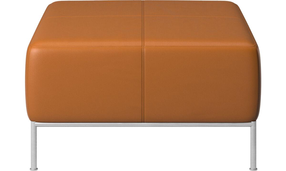 Modular sofas - Miami footstool - Brown - Leather