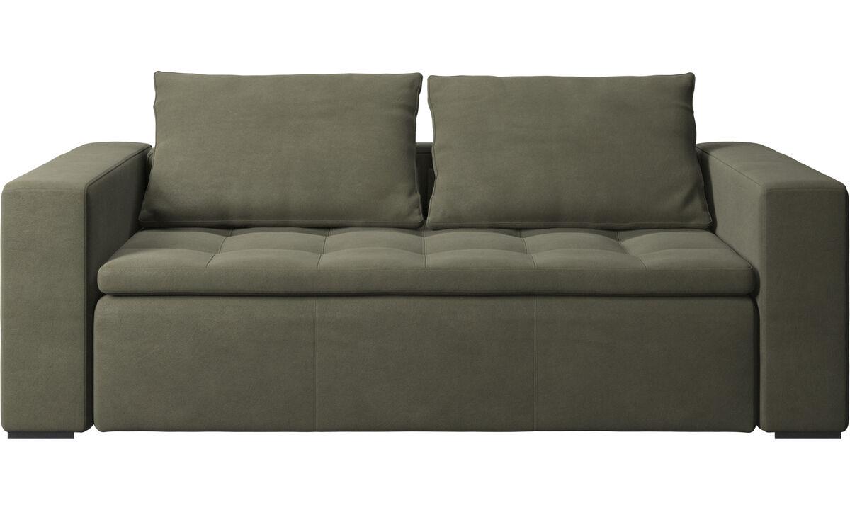 2.5 seater sofas - Mezzo sofa - Green - Leather