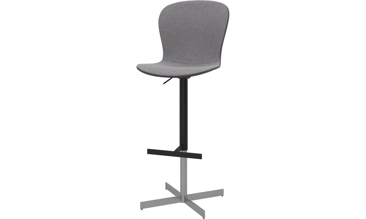 Barstools - Adelaide barstool with gas cartridge - Gray - Fabric