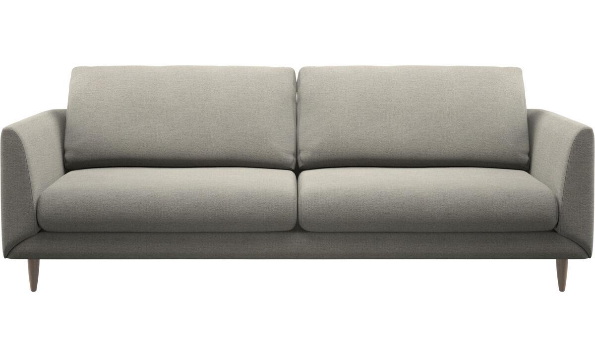 Sofás de 3 plazas - sofá Fargo - En beige - Tela