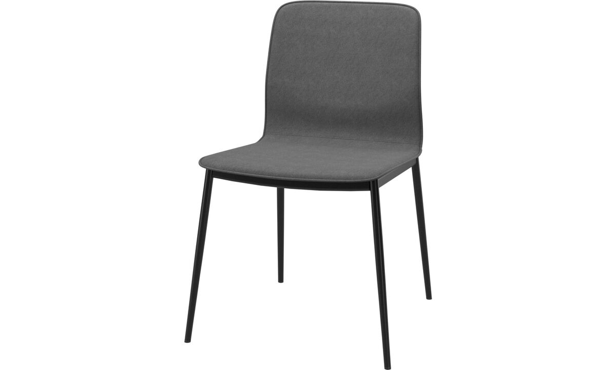 Dining chairs - Newport dinning chair with standard fabric - Grey - Fabric